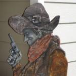 cowboy wooden cutout