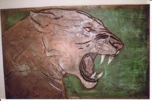 lioness wall ornament